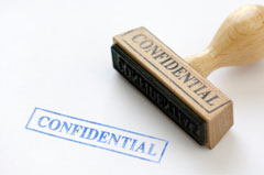 Image of a Confidentality stamp